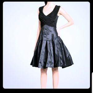 Tadashi Shoji taffeta cocktail black dress size 4